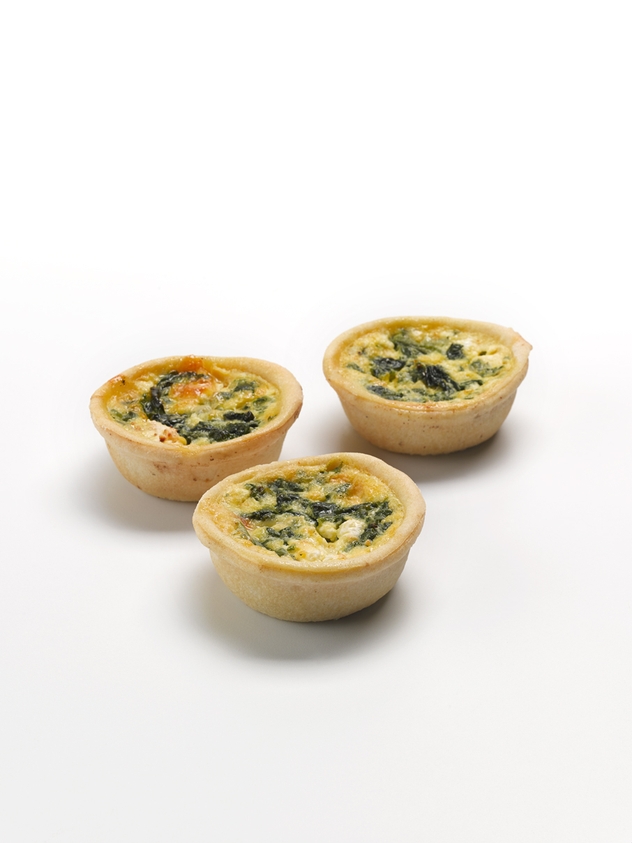 Spinach & Feta Quiche 2""