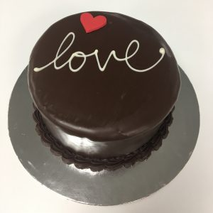 Valentines Chocolate Cake 4""