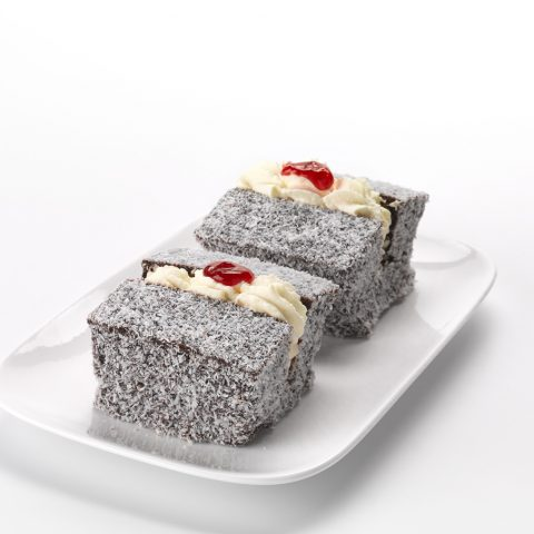 Chocolate Lamington with Cream