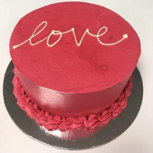 "Valentines Pink Cake 4"""