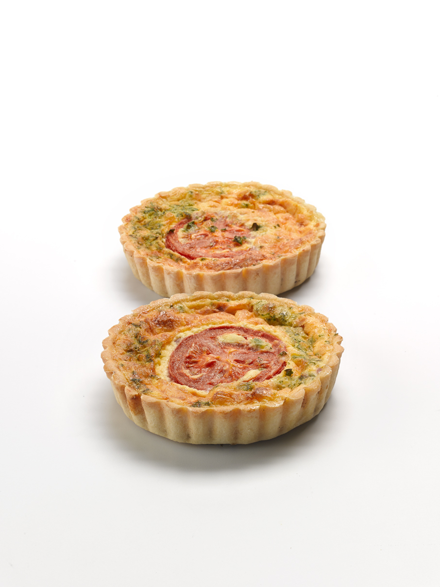 Ham, Parsley & Tomato Quiche  4""