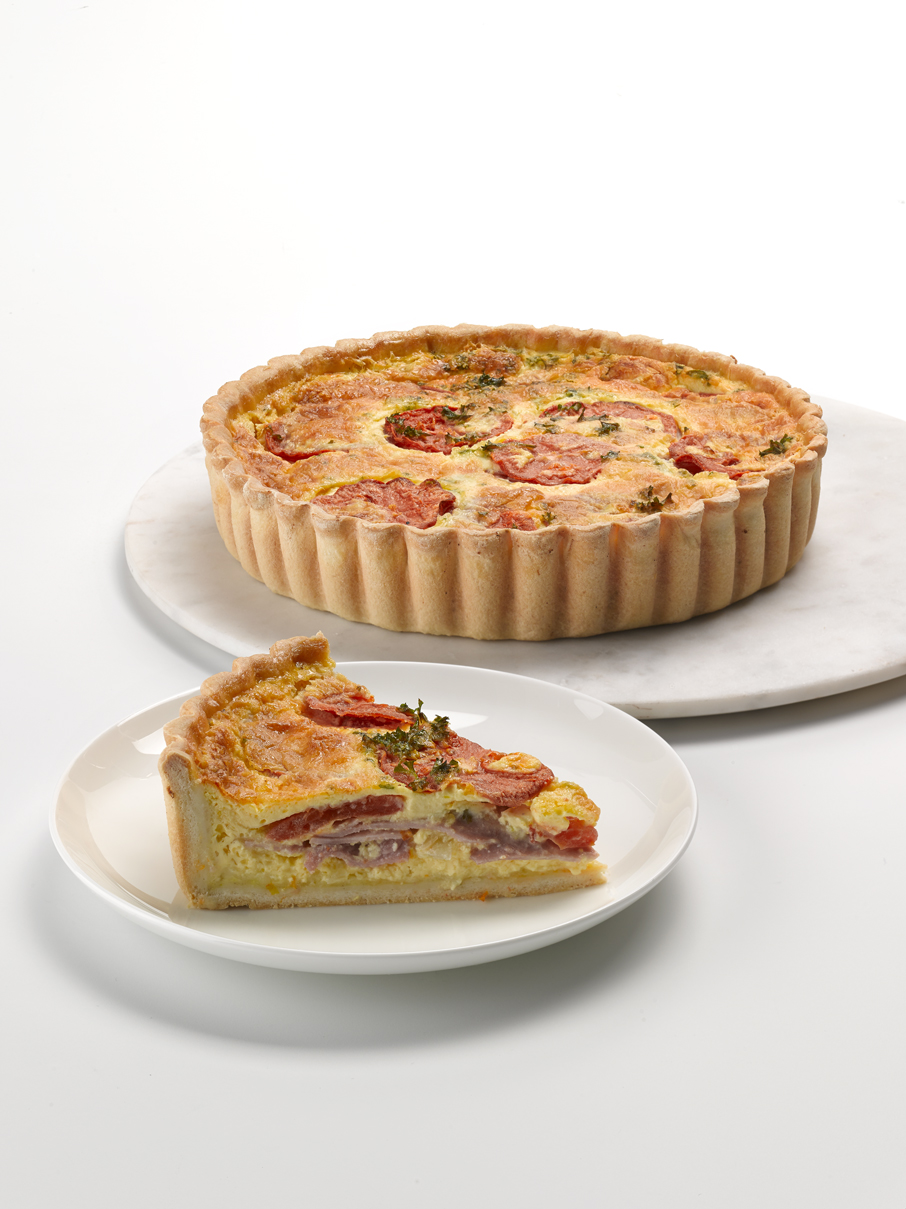 Ham, Tomato & Parsley Quiche 9""