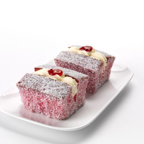 Raspberry Lamington with Cream