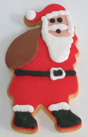 Santa Shortbread Cookie