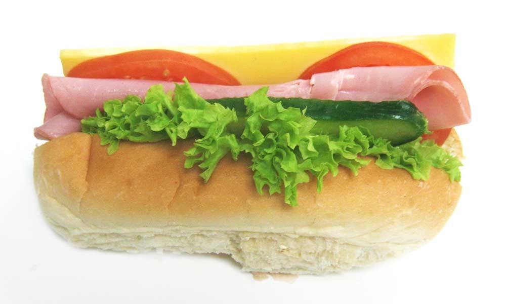 Ham Salad & Cheddar on White Roll